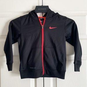 Nike black zip up sweatshirt hoodie
